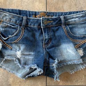 ALMOST FAMOUS dark denim jean shorts size 11